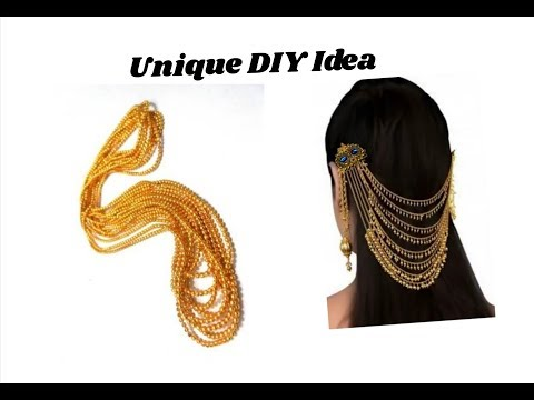 Party wear hair accessories | Making with ball chain