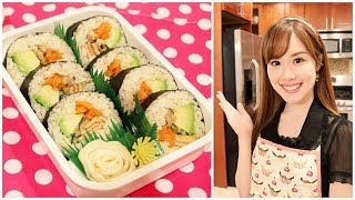 Vegetarian Sushi Roll Bento! (kawaii Bento #15) ベジタリアン寿司ロール