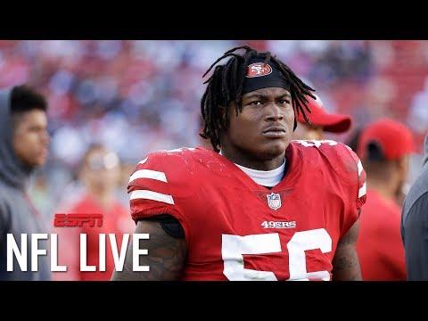 Redskins taking a risk by claiming Reuben Foster after arrest on domestic violence charge   NFL Live