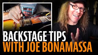Joe Bonamassa sound check: backstage tips
