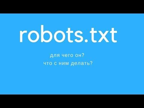 Robots Txt - для чего он ? что с ним делать?