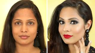 How to Do Party Makeup at Home | Step By Step Tutorial for Beginners (Hindi) | Shruti Arjun Anand