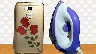 How to Print Flower Photo on Mobile Cover at Home - Using Electric Iron