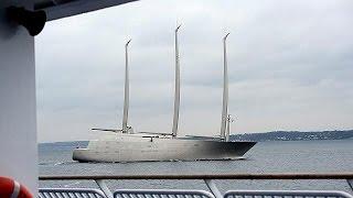 Größte Segeljacht der Welt geht auf Jungfernfahrt