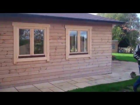 Finished 2 bed log cabin