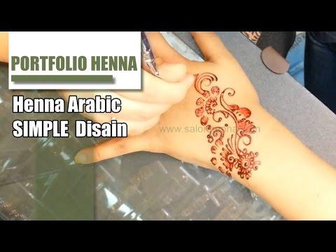 Belajar Henna Cara Mengambar Henna Di Tangan