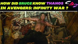 How Did Bruce know Thanos in Avengers Infinity War ?   Explained in HINDI   