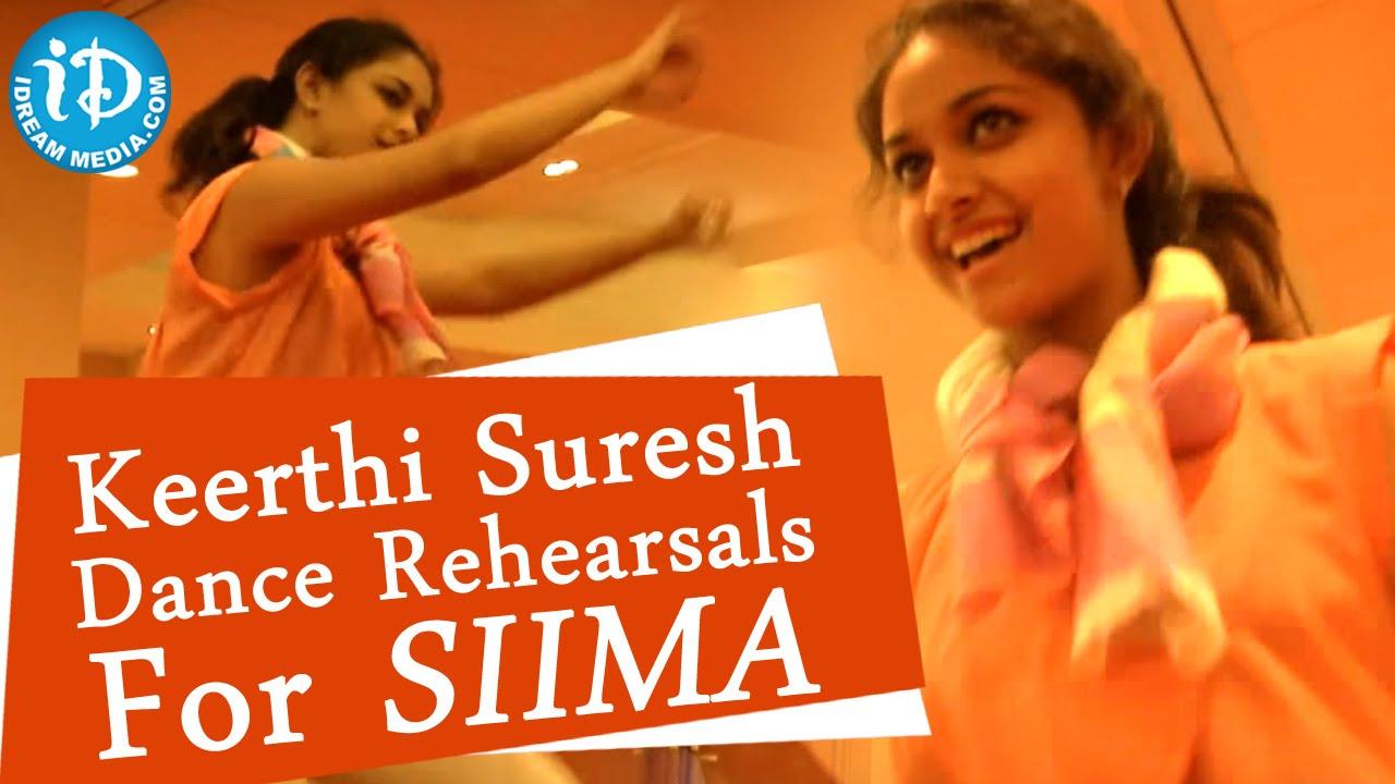 Keerthi Suresh Dance Rehearsals || SIIMA 2014, Malaysia