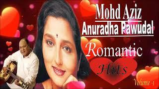 Mohd Aziz & anuradha paudwal romantic hit songs    volume 1    मोहम्मद अजीज और अनुराधा पौडवाल