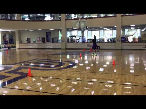 High Point WBB- Post Workouts (Ball handling cone)