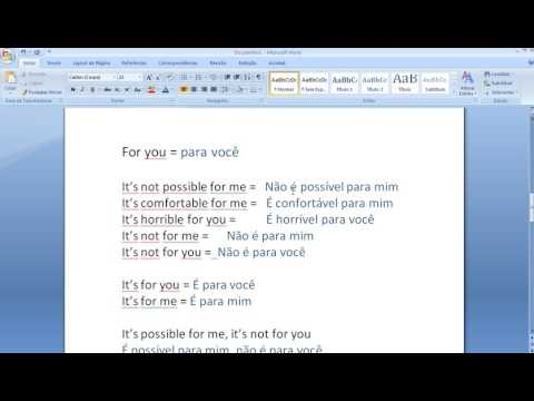Beginner portuguese lesson 01