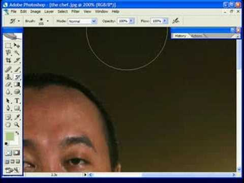 photoshop video tutorial noise ninja using history brush