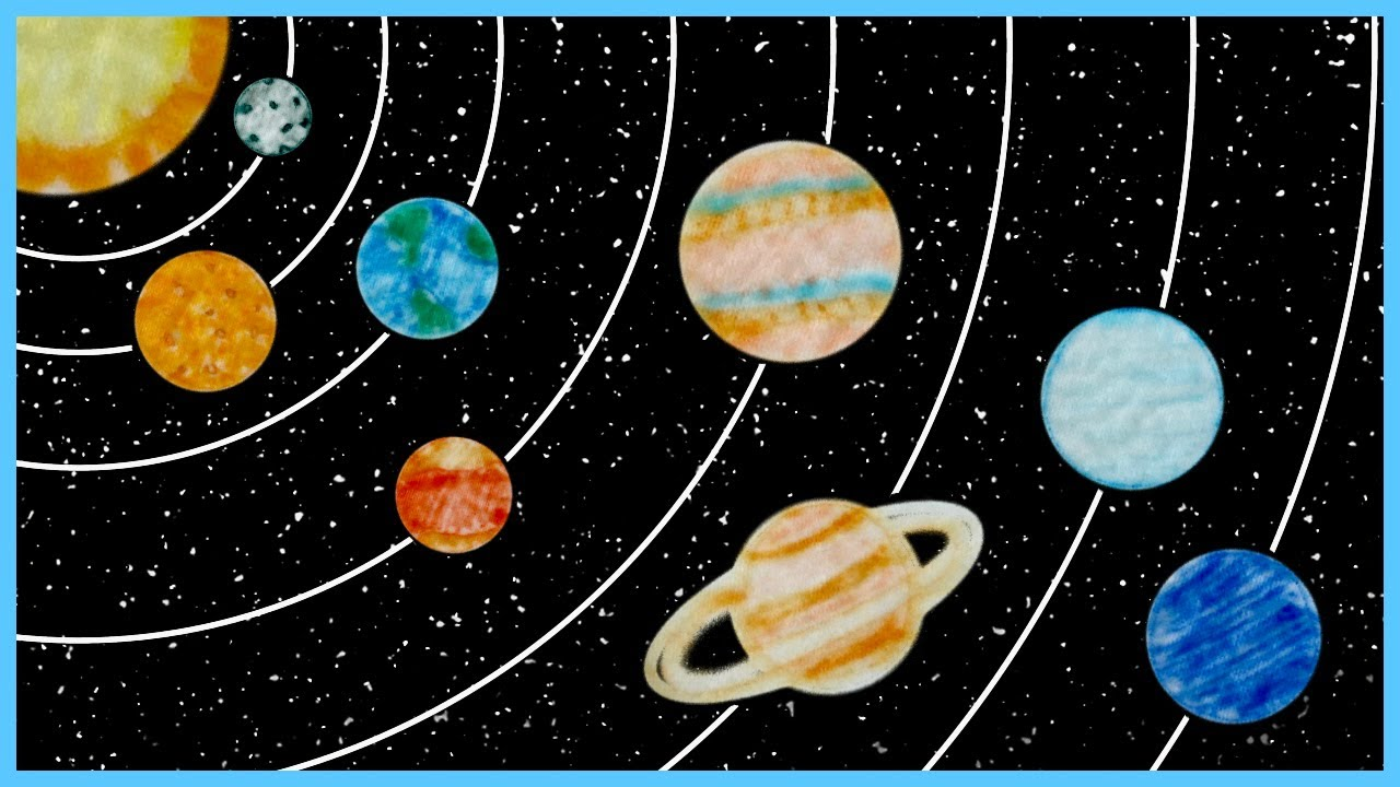 Solar System Craft Paper Towels Craft Drawing Planets Craft Magic Paper Towels Kids Craft Youtube