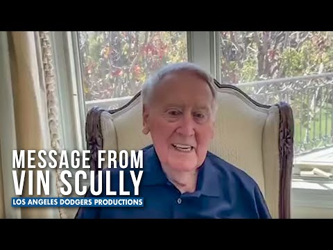 Vin Scully Gives Special Message to Fans - Dodgers (2020)