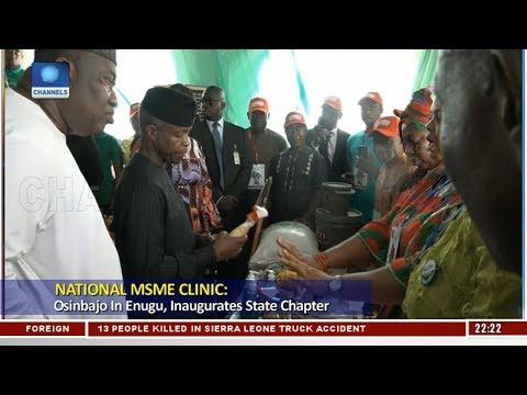 Osinbajo In Enugu, Inaugurates National MSME Clinic