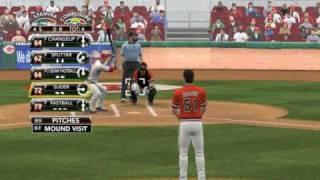 MLB 2K9 PC Gameplay SF@CIN (Giants vs Reds) 1 Inning Bottom