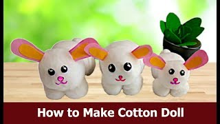 #CottonDoll #CottonCraft #Handcraft | How to Make Easy Handmade Doll | Handicraft | Aloha Crafts
