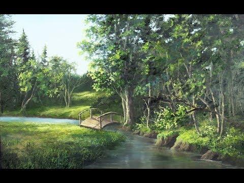 Bridge over the Creek | Landscape Oil Painting