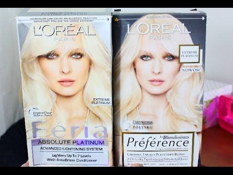 Rozjaśniamy Włosy Loreal Platynowy Blond Extreme