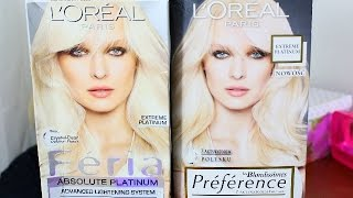 TEST: Loreal PLATYNOWY Blond ! **EXTREME PLATINUM** Feria& Preference