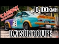 Datsun 1200 Coupe Race Track Car CA18DET Turbo Boost Rev 0-60 Speed & Exhaust Sound Nissan EP#25