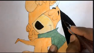 Drawing augie - doggie and doggie daddy