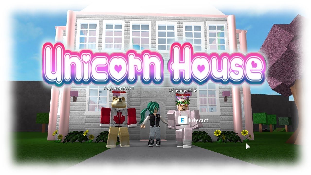Roblox Unicorn House Bloxburg Youtube