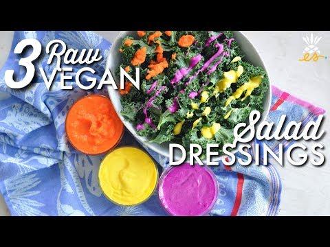 3-raw-vegan-salad-dressings-w/-only-3-ingredients!- -easy-+-plant-based