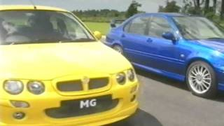 Top Gear GTi Tiff Needell Road Testing the MG ZR, ZS & ZT 2002