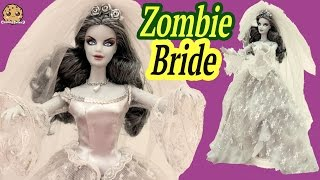 zombie bride haunted beauty gold label collection collectors barbie doll review cookieswirlc video