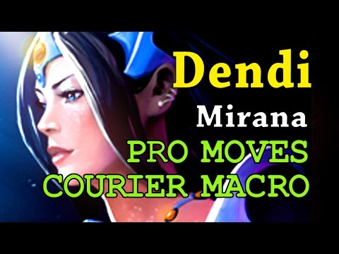 Dota 2 6k MMR MID | Dendi Mirana COURIER MACRO SS TIMING