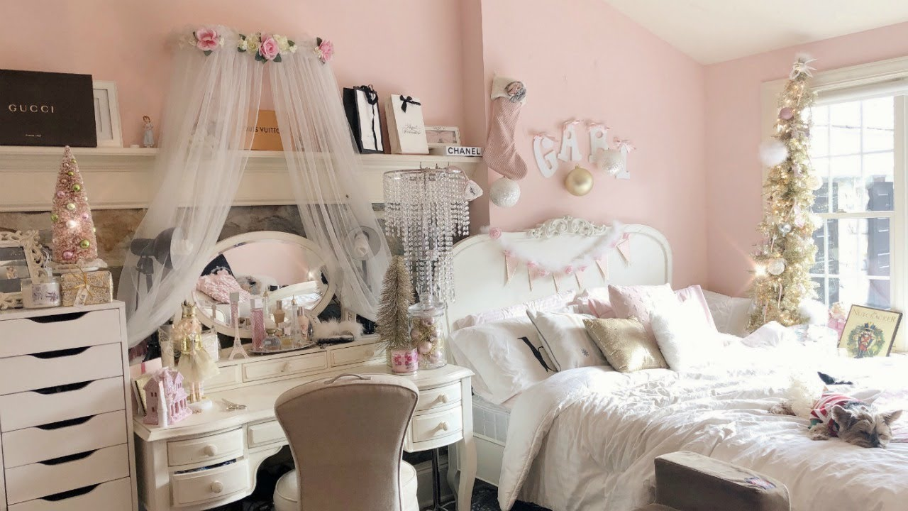 my very girly room tour pink wonderland  YouTube