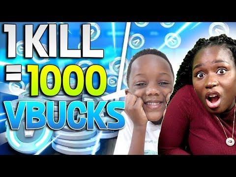 *NEW* - For Every Kill I Get I Get 1000 Vbucks - FORTNITE BATTLE ROYALE
