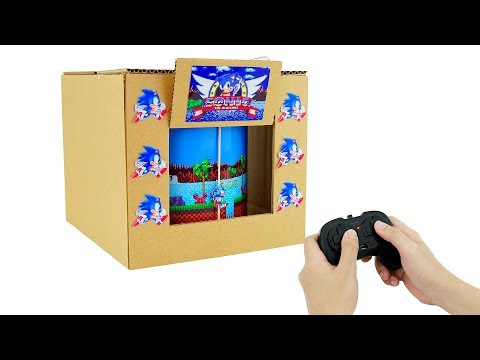 How to Make Amazing SONIC THE HEDGEHOG GamePlay from Cardboard