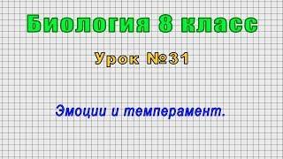 Биология 8 класс (Урок№31 - Эмоции и темперамент.)