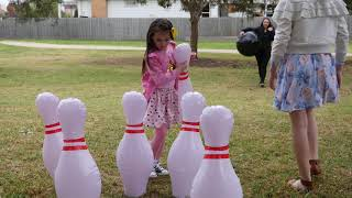 Inflatable Bowling Games - Fun Giant Yard Games Adults Family. Fantastic Indoor Outdoor Games
