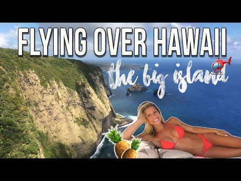 BEAUTIFUL HELICOPTER FLIGHT OVER THE BIG ISLAND OF HAWAII!!!