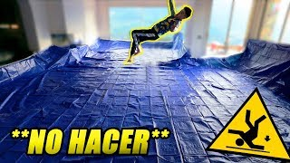 SLIP AND SLIDE GIGANTE EN EL SALON DE CASA!! **NO HACER**[bytarifa]