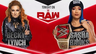 |Raw|Sasha Banks vs Becky Lynch| #WWE2K20