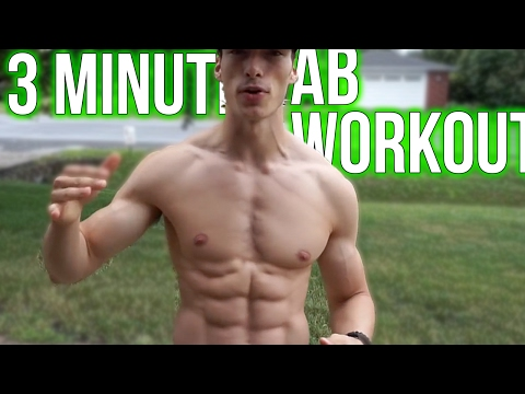 3 Minute Ab Workout To Lose Belly Fat At Home Within 1 Week (Teenagers, Men and Women)
