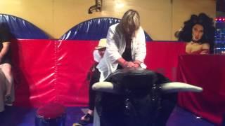 Anita & Sue @ Rewind North 2015 Riding (trying) El Toro ! Bronco Bull This is Hilarious!!!!!!!