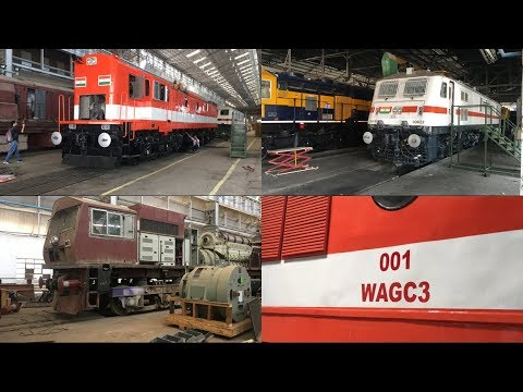 DIESEL LOCOMOTIVE WORKS  : A NEW ERA OF DIESEL TO ELECTRIC CONVERTED (WAGC3) & WAP 7 LOCOMOTIVES.