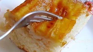 el famoso pastel en 5 minutos que está volviendo loco al mundo!!♥️ receta fácil y rápida!🍌