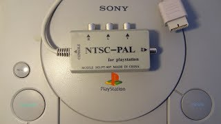 PlayStation unofficial accessories: Analogue TV output (RF-out) add-on with NTSC-PAL converter