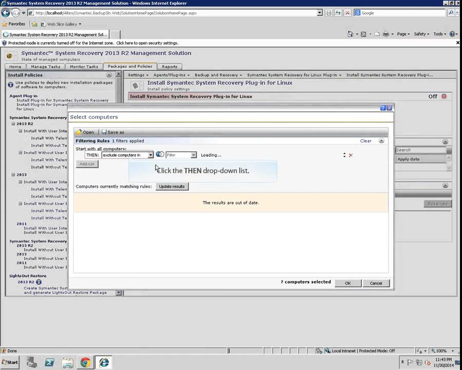 Deploying a Linux agent from the SSR 2013 R2 Management Solution