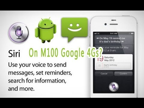 """Siri"" run on Google 4S+ M100 2Ghz CPU  dual sim 3G android mobile phone iphone 4s clone"