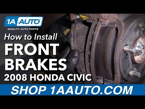 How to Replace Front Brake Pads Rotor 06-10 Honda Civic
