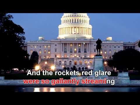 Star Spangled Banner (O Say Can You See) HD1080 with Karaoke Lyrics
