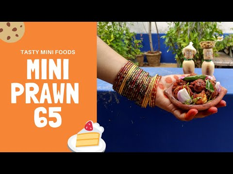 Tasty Prawn Fry   Miniature Recipes   Mini Prawn 65   Prawn Varuval   Tasty Mini Foods   இறால் 65