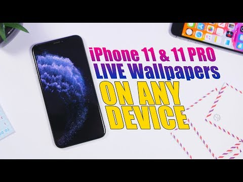 Get The New Iphone 11 11 Pro Live Wallpapers On Any Device Youtube